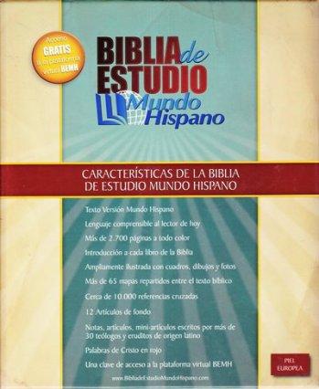 Biblia de Estudio - Mundo Hispano (piel europea)