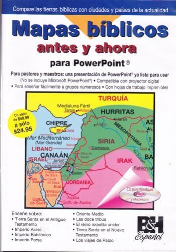 Mapas Bíblicos: Antes y Ahora  - Powerpoint DVD