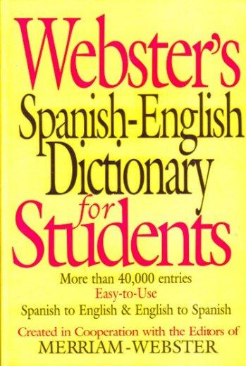 Webster Diccionario Español / Inglés - English / Spanish para Alumnos
