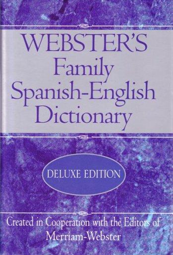 Webster Family Diccionario Español / Inglés - English / Spanish completo (pasta dura)