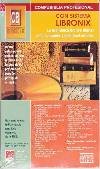 CompuBiblia Libronix Edición Profesional (CD)