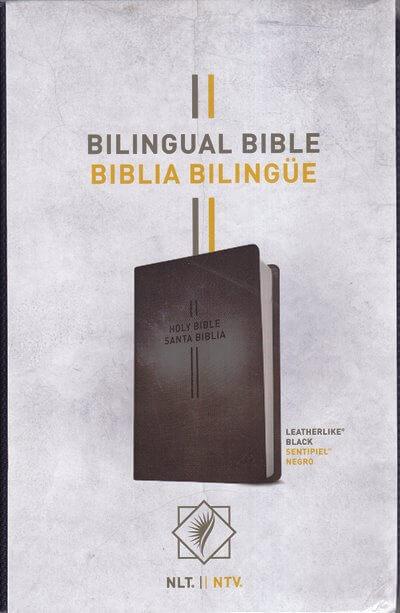 Biblia Bilingue NTV / NLT - sintético negro