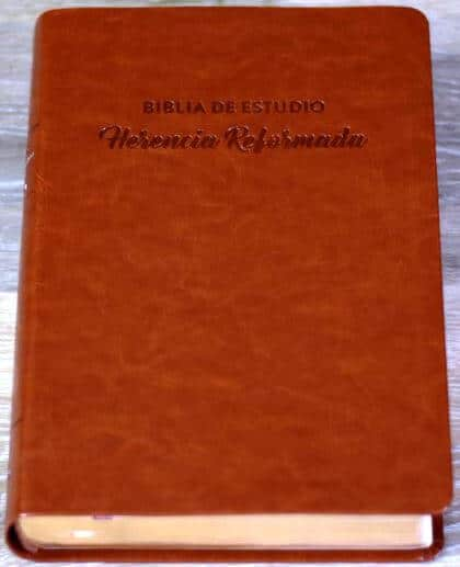 Biblia de Estudio - Herencia Reformada (RVR 60 - semi piel cafe)